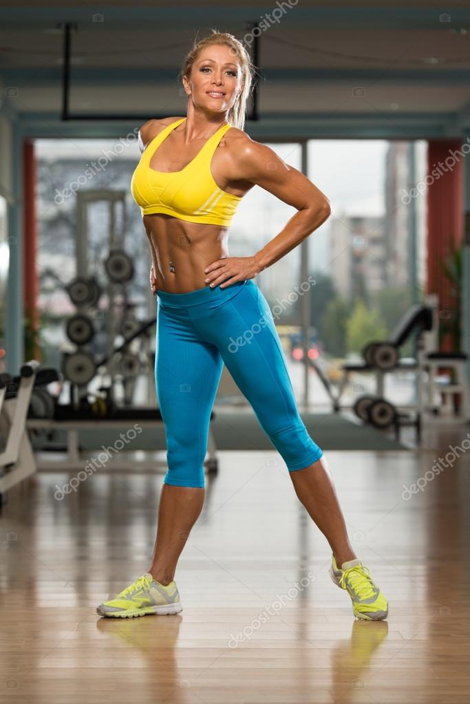 Portrait Of Sexy Mature Woman In Fitness Center  Stock Photo  Ibrak 69994895-4747