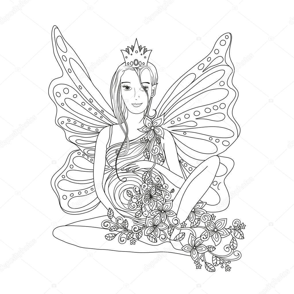 Femme Enceinte Avec Ailes Image Vectorielle Ilonitta 105640852