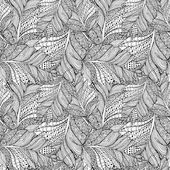 Coloring book page with feathers pattern