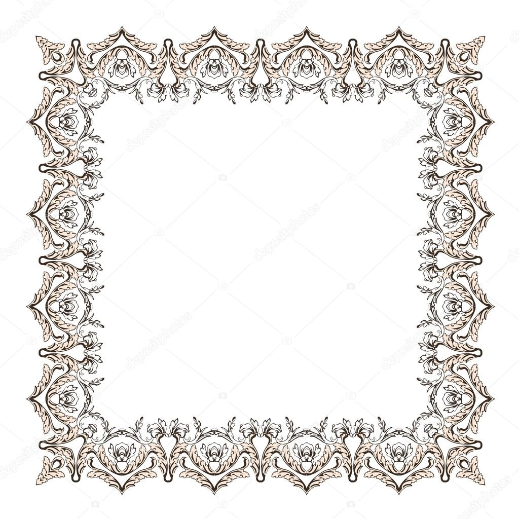 Marco ornamental de gitana — Vector de stock © ilonitta #121906538