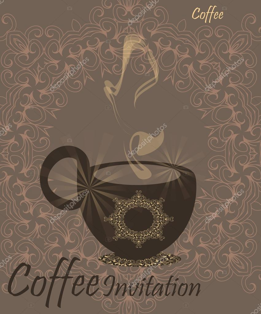 coffee invitation template stock vector ilonitta 68697501