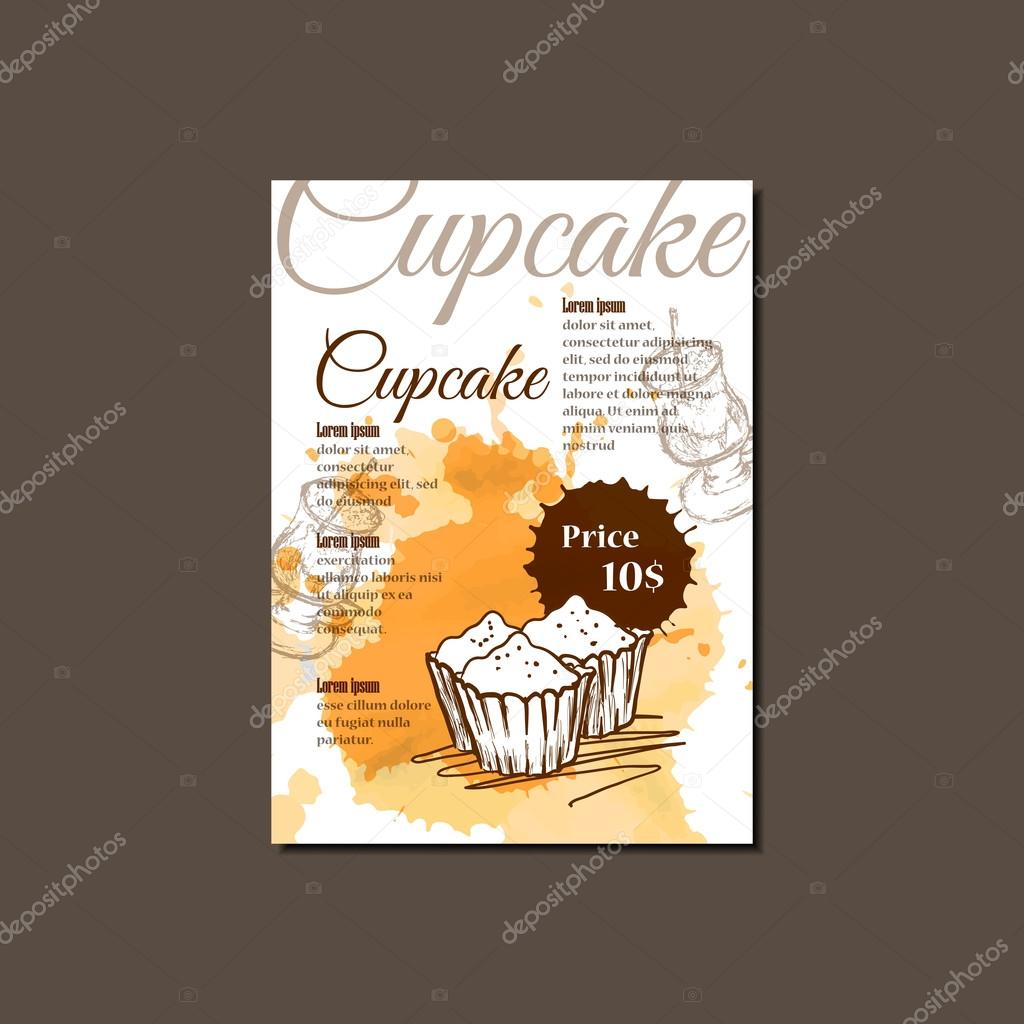 Template for Cupcake Brochure