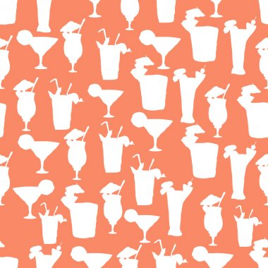 Cocktail party seamless pattern