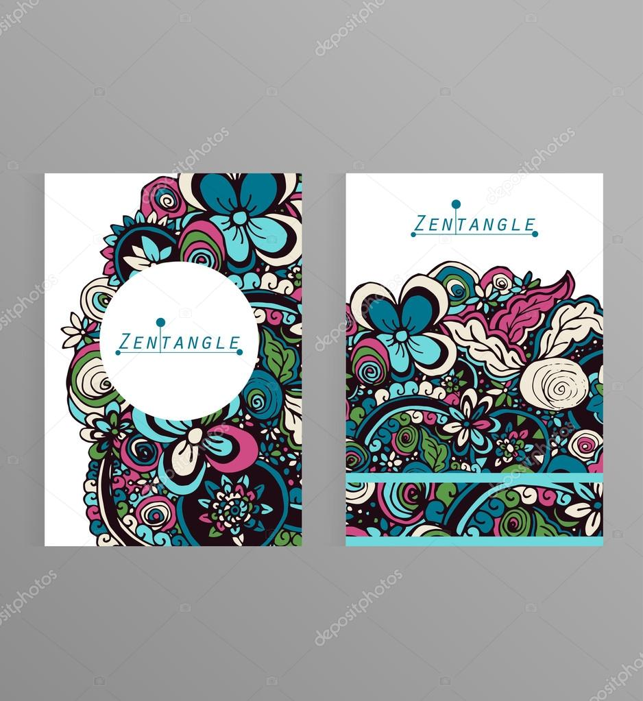 Greeting cards design with zentangle 6