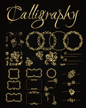 set of calligraphic design