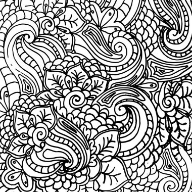 abstract fantasy pattern for coloring book