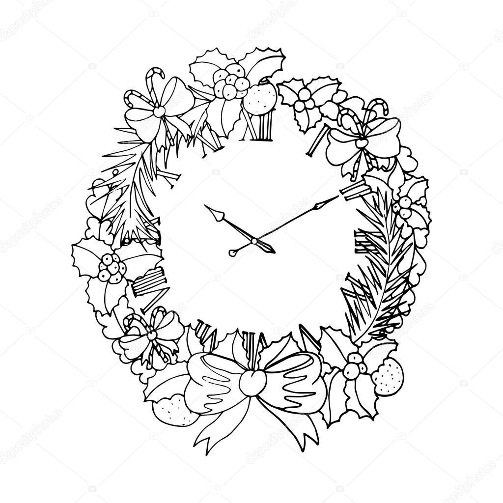 guirnalda de la Navidad imprimir — Vector de stock © ilonitta #92854500
