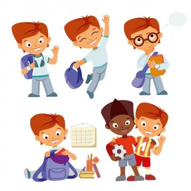 Pupils boys character at school