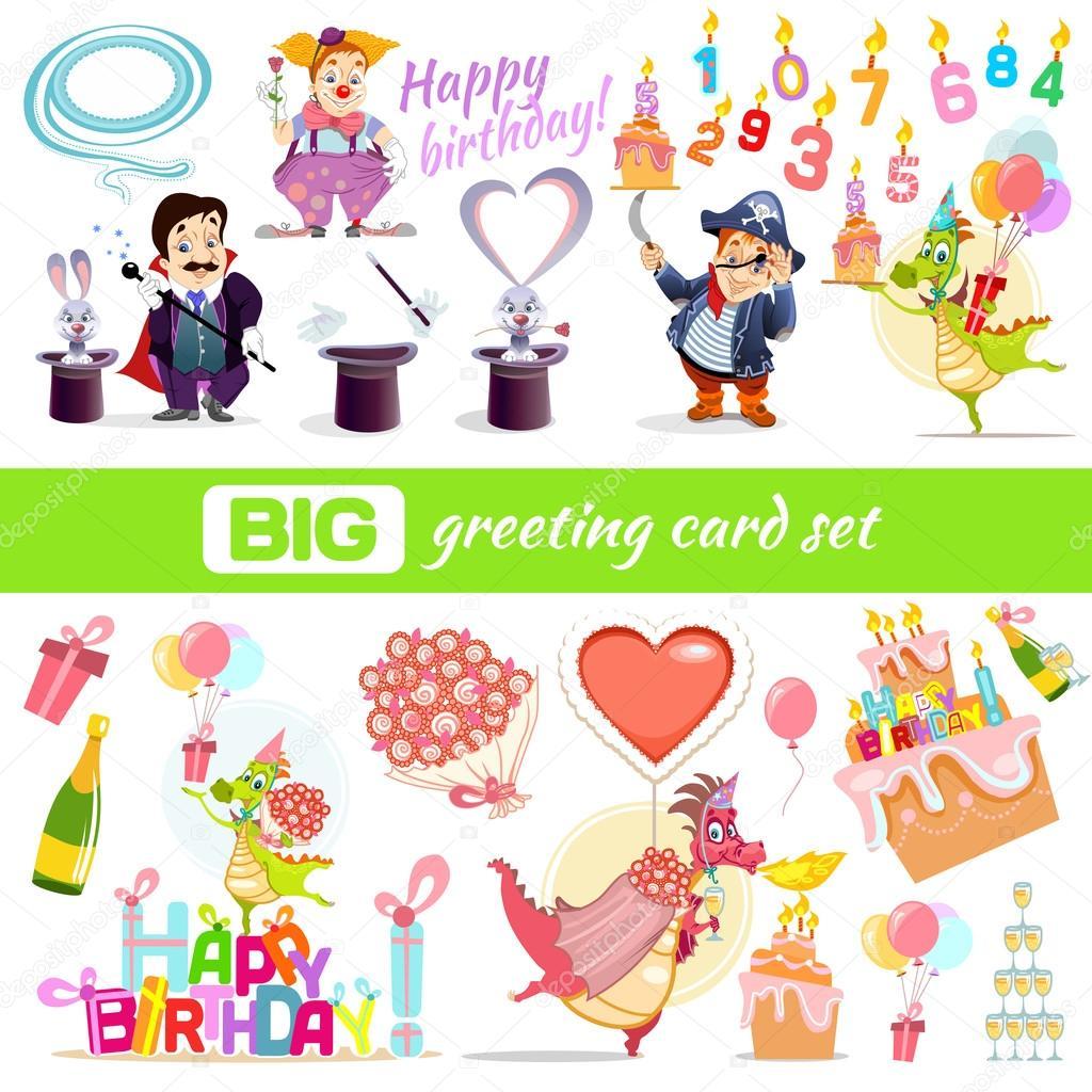 Big Greeting Card Constructor Stock Vector Funnyclay 103128980