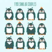 Spiel mit lustigen Cartoon Pinguine