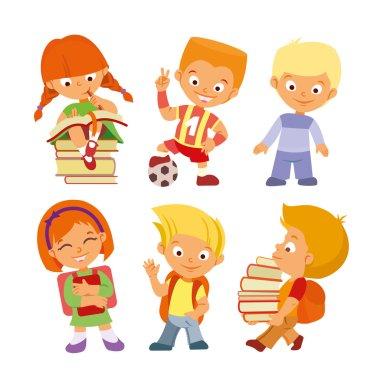 .Set of cute cartoon pupils