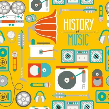 retro music pattern