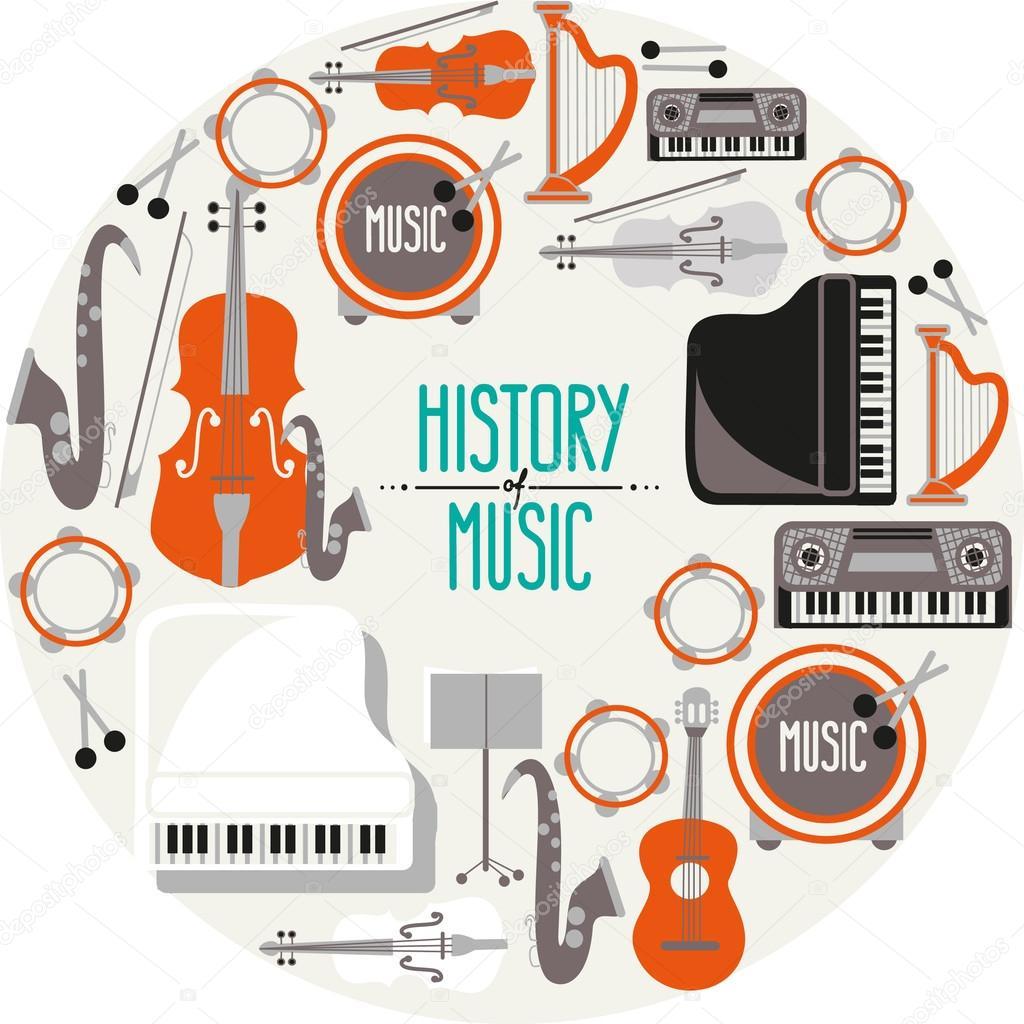 Carteles retro de instrumentos musicales vector de stock funnyclay 103130306 - Carteles retro ...