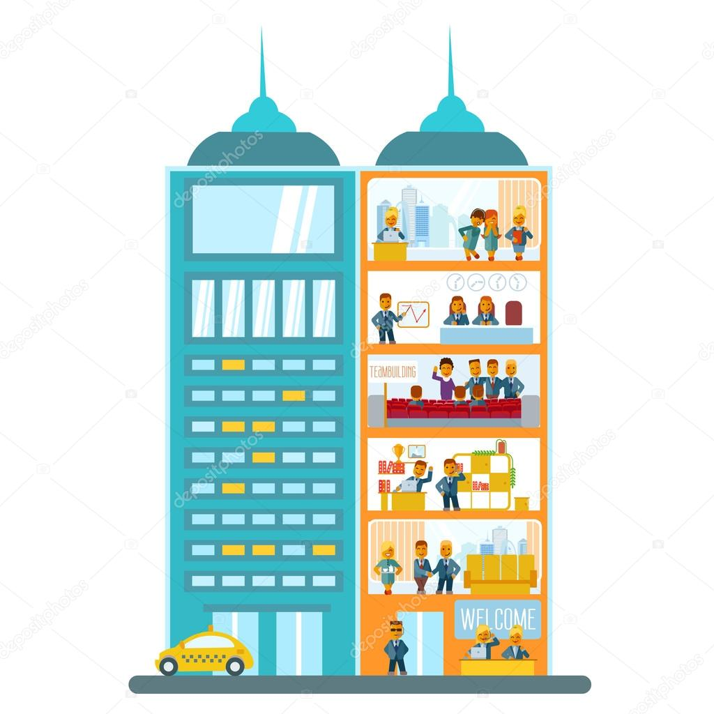 modern office building stock vector funnyclay 103132750 rh depositphotos com victor building dc victor building