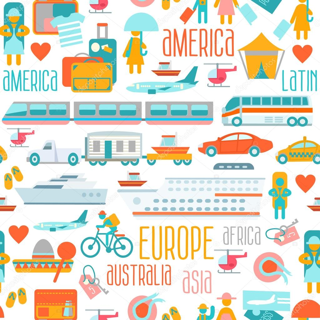 世界一周旅行のイラスト — ストックベクター © funnyclay #103139492