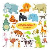 sada kreslený afrických zvířat