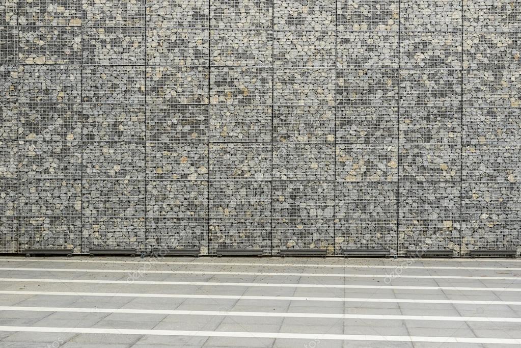 muro de gaviones de gran foto de stock - Muro De Gaviones