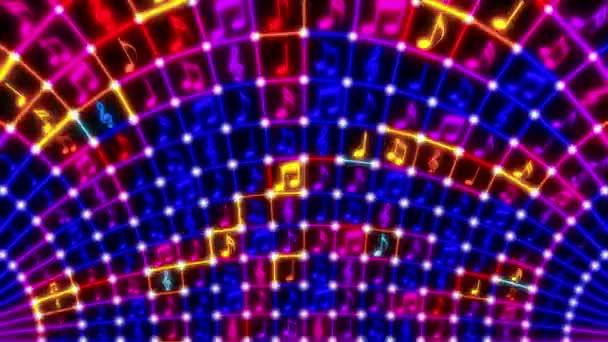 Blikající hudební poznámky smyčka videa