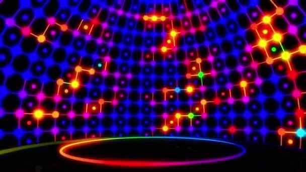 Jelenet Színes Neon Looped Video