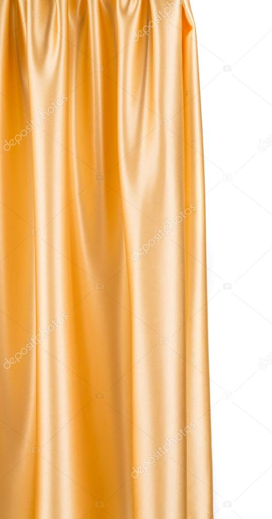 gouden zijden gordijnen — Stockfoto © indigolotos #65589265