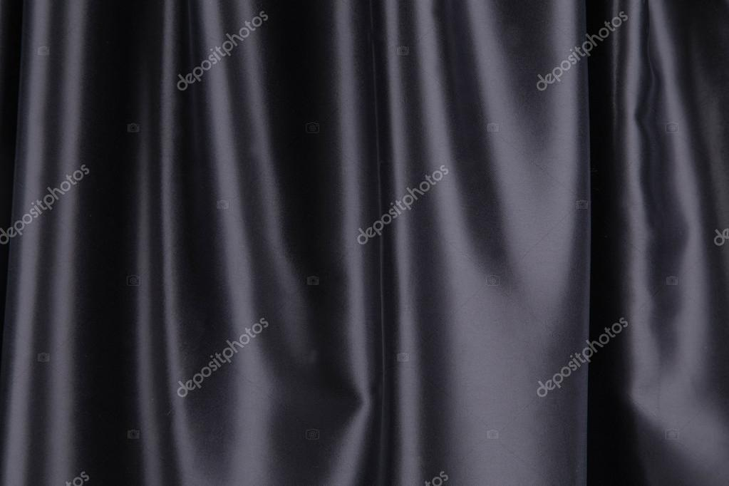 zwarte zijden gordijnen — Stockfoto © indigolotos #70133053