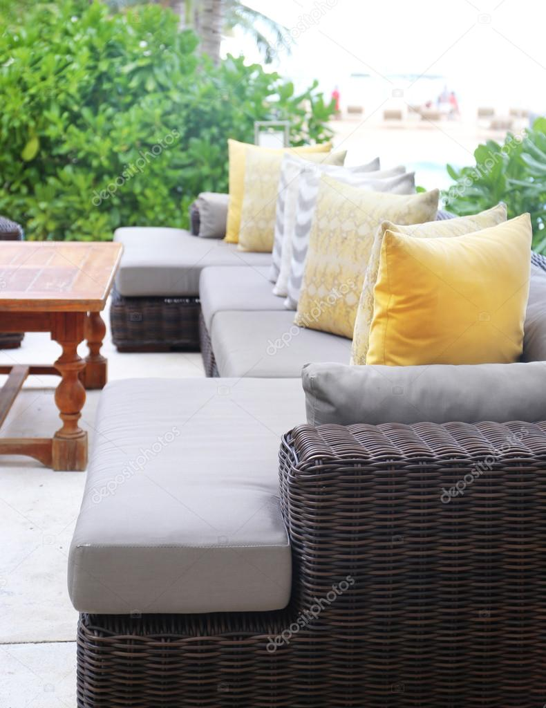 modern rattan sofa d