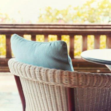 chair at summer terrace restaurant