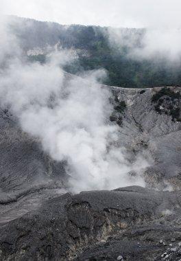 Active smoking volcano