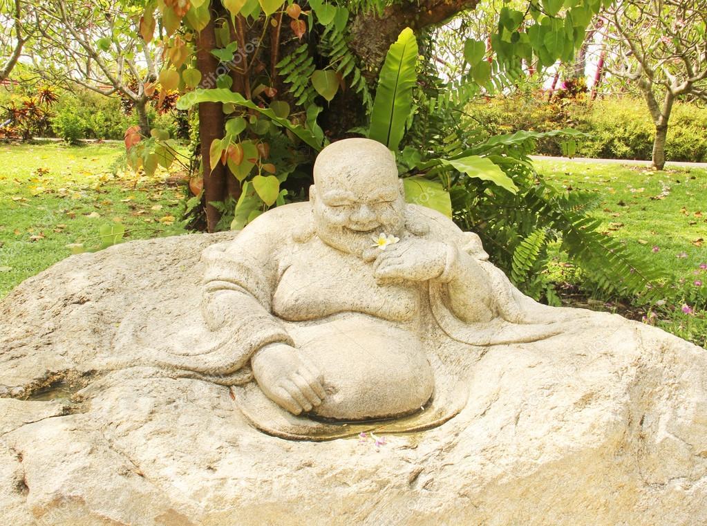 Chinese god statue stone