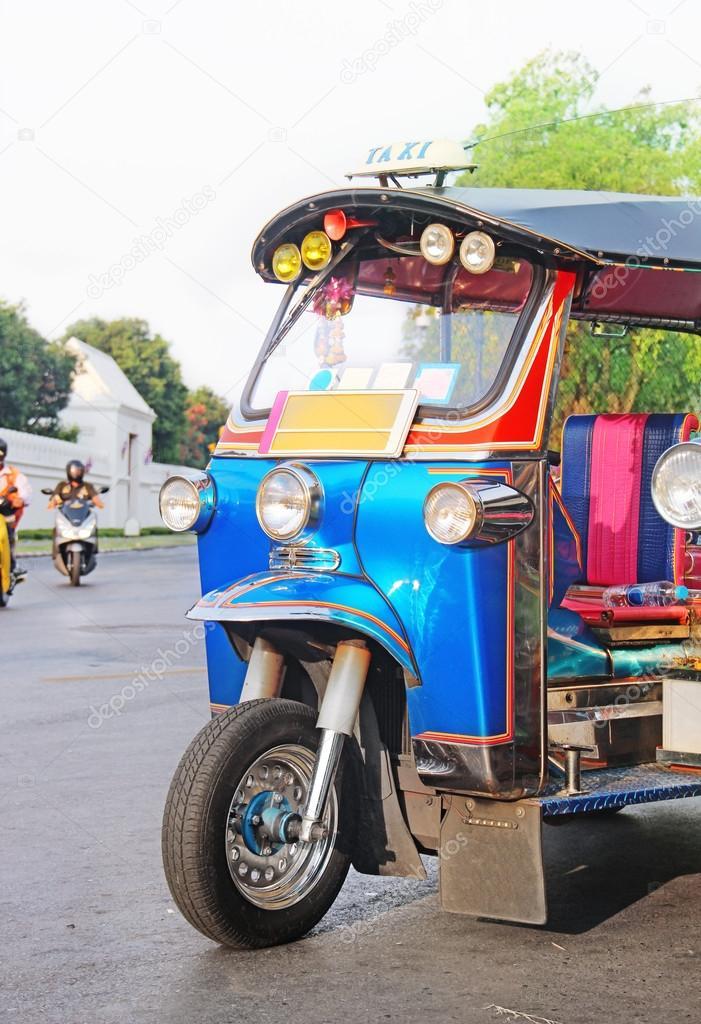blue Tuk-Tuk  urban vehicle
