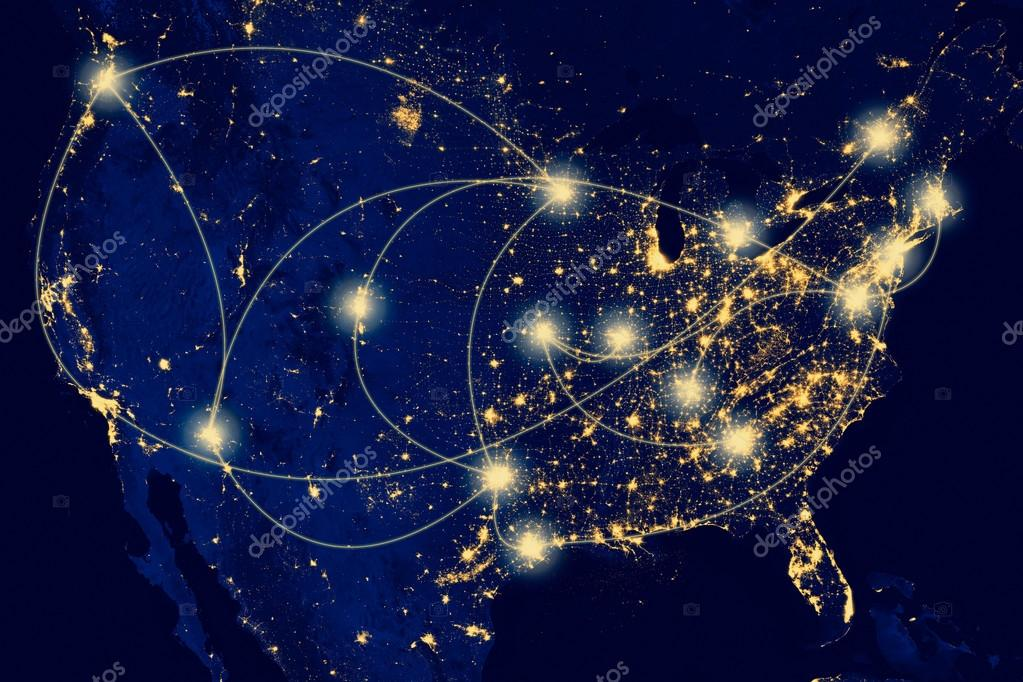 United States city lights