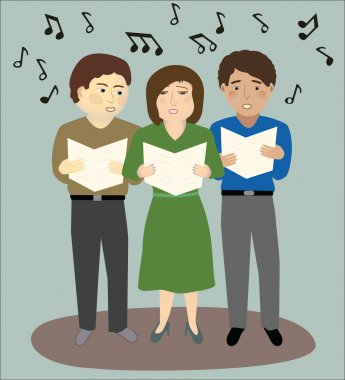 Three People Singing