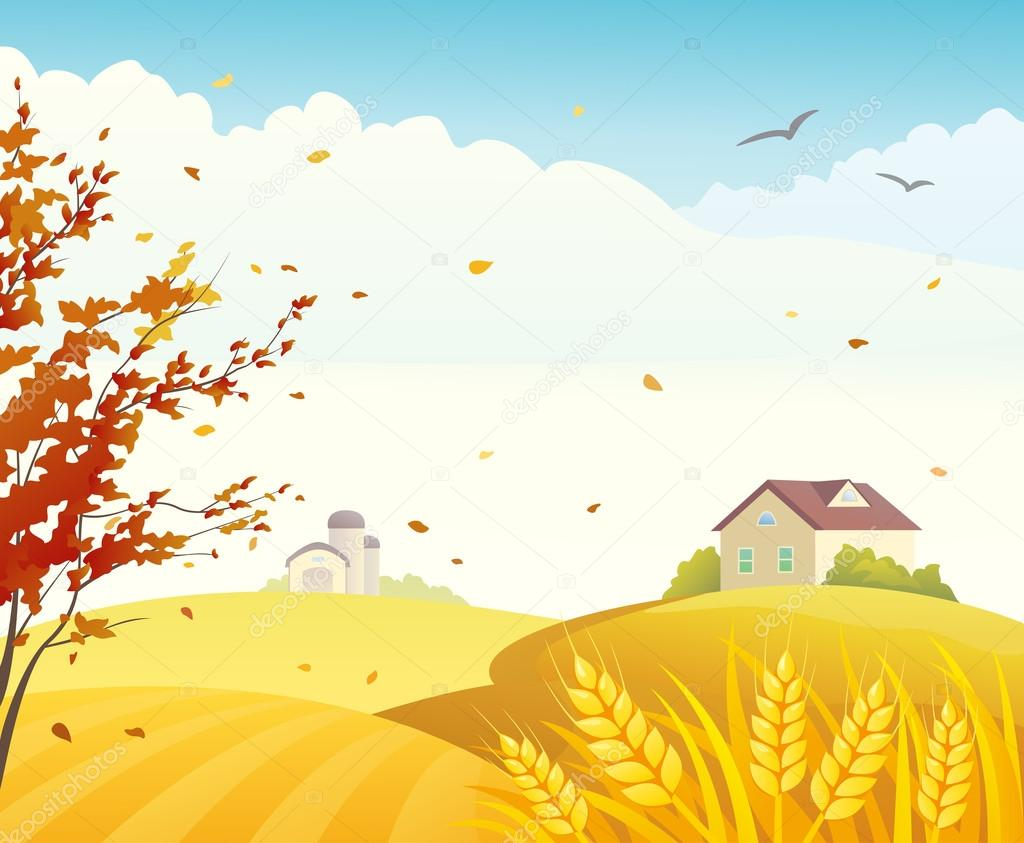 Autumn farm