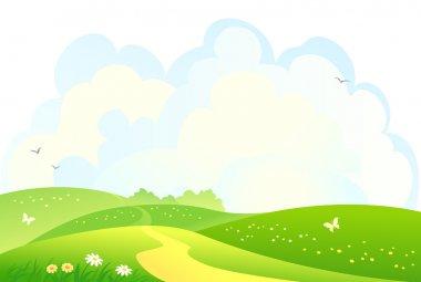 Green hills background