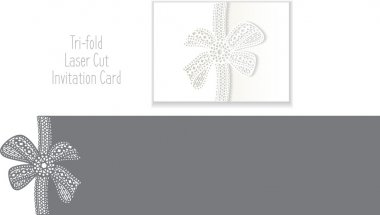 Tri-fold Laser Cut Envelope Template Invitation Card