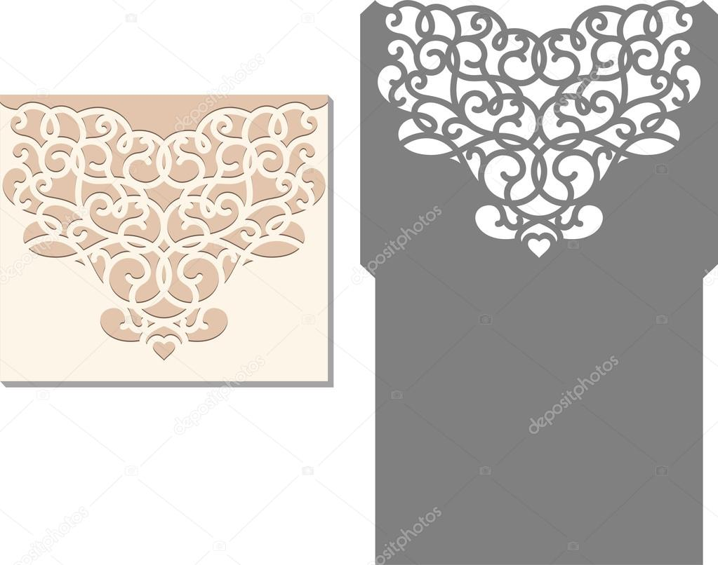 Of wedding invitation cards 63 on wedding invitation cards new designs - Laser Cut Envelope Template For Invitation Wedding Card