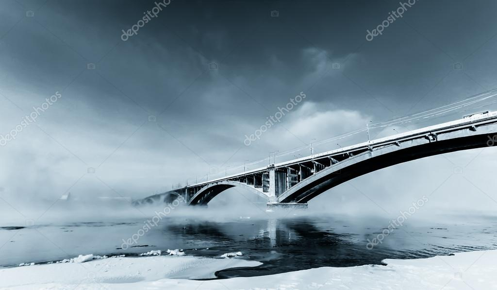 Bridge over Yenisei River