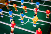 red and blue table soccer players