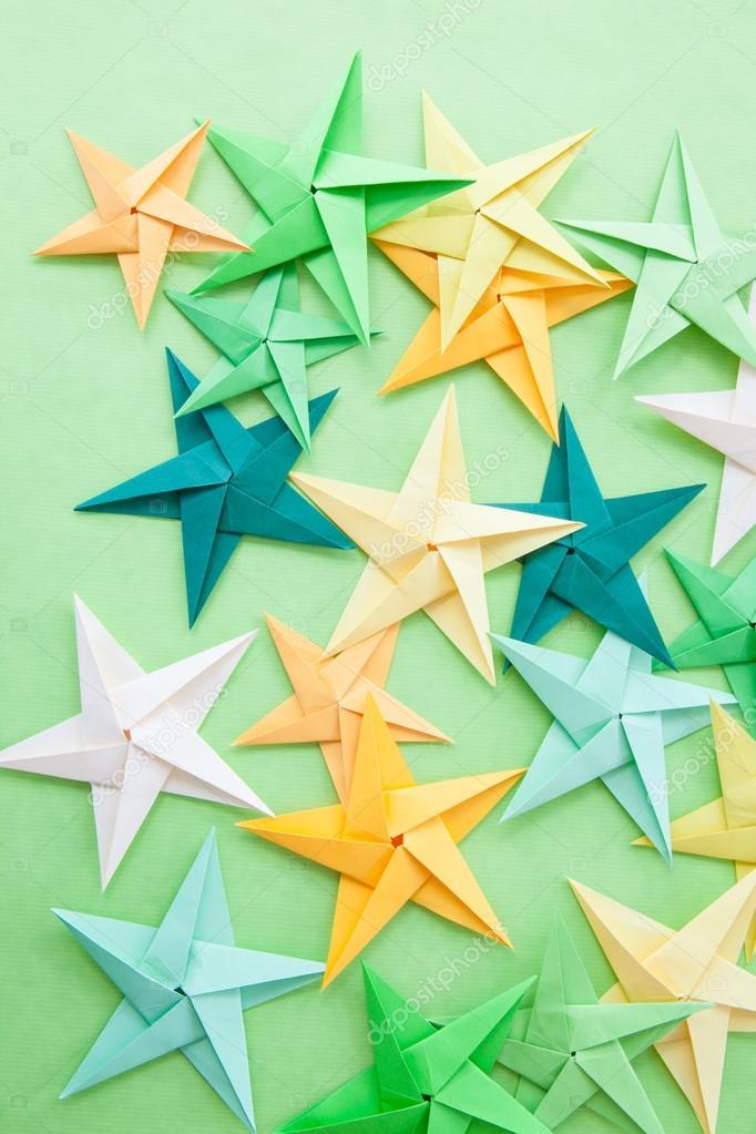 Colorful Origami Stars Stock Photo Barbaraneveu 114364924