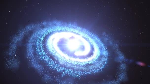 3D animáció a galaxis és a köd ragyogó csillag fény és a Stardust forgó és spinning korlátlan térben univerzum 4k Ultra HD