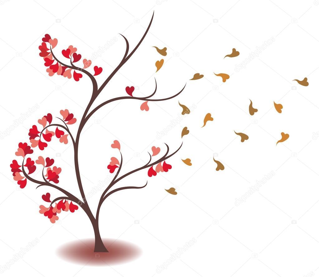 Arbol Del Amor Dibujo Amor Se Está Desvaneciendo En El árbol