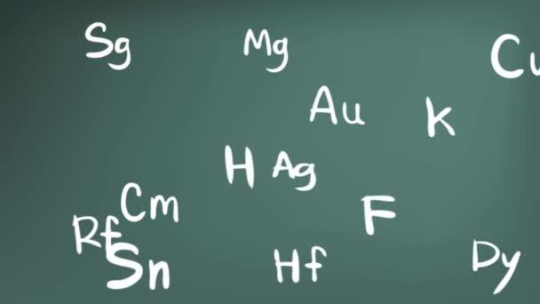 Animacin de elementos de la qumica en el icono frmula de teora animacin de elementos de la qumica en el icono frmula de teora de la tabla peridica en cursivo doodle pizarra fondo utilizado para la introduccin de urtaz Images