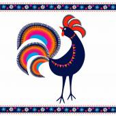 Photo Folk Rooster template