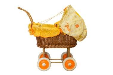 wooden baby stroller