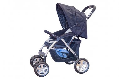 baby carriage isolated