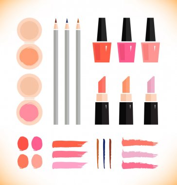 Make up vector icons set