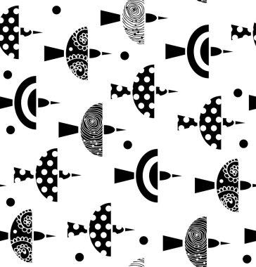 Ornate pattern with birds