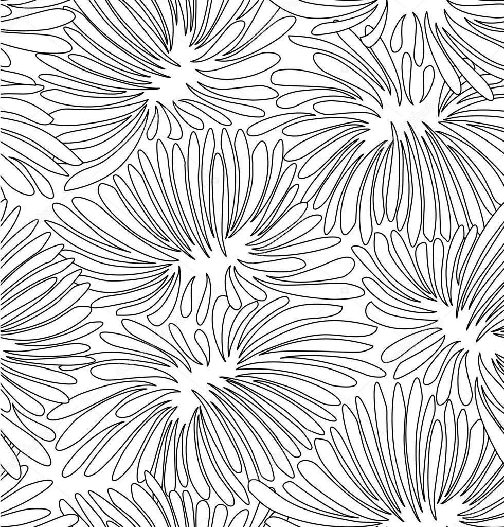 blanco y negro fondo floral — Vector de stock © Silmen #97474698