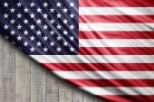 Photo American flag of silk, digital background
