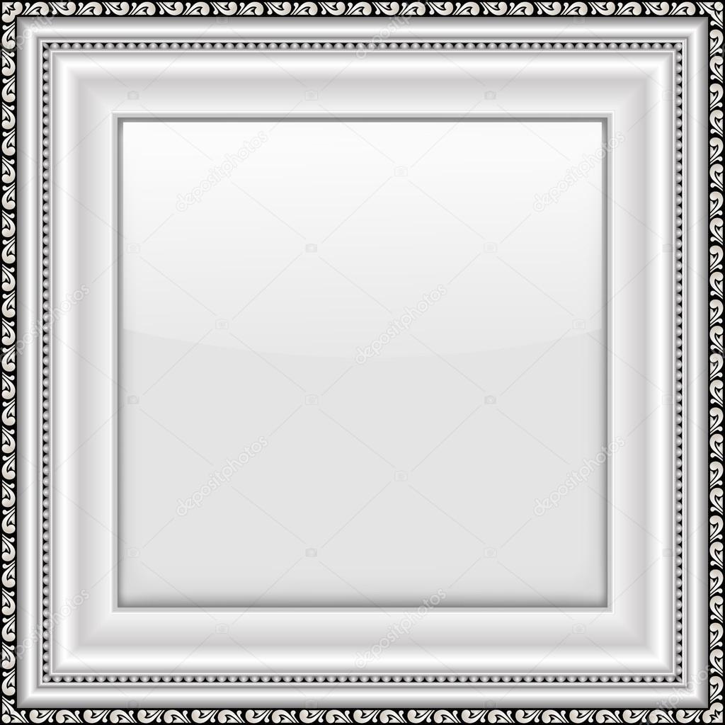 Marco plata vacía. Ilustración de vector — Archivo Imágenes ...